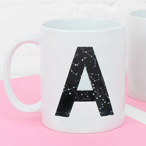 Monogram Constellation Personalised Initial Mug
