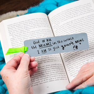 'Mum I Am So Glad You're Mine' Bookmark