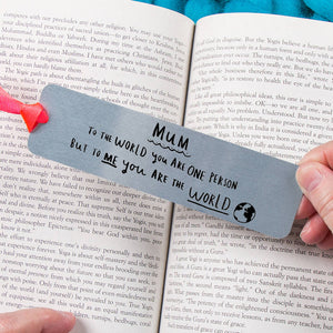 'Mum You're The World To Me' Bookmark