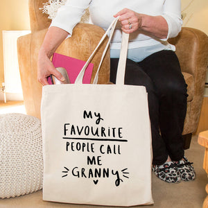 'My Favourite People Call Me Grandma' Tote Bag