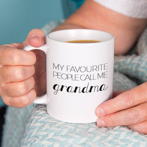 'My Favourite People Call Me Grandma' Ceramic Mug