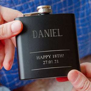Name And Message Personalised Hip Flask