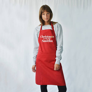 'Christmas With The…' Personalised Apron