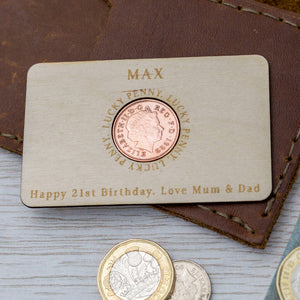 Penny Coin Birthday Keepsake Wallet Card 1979 To 2005