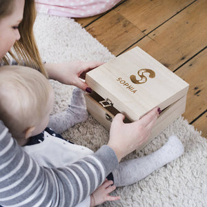 New Baby Personalised Name Memory Box