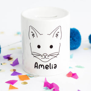 Children's First Pet Personalised Animal Money Box