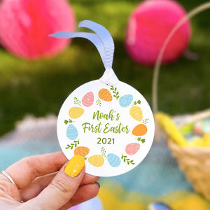 Personalised Baby's First Easter Egg Wreath Decoration