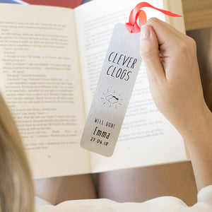 Personalised Clever Clogs Graduation Bookmark