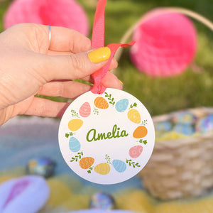 Personalised Easter Egg Wreath Decoration