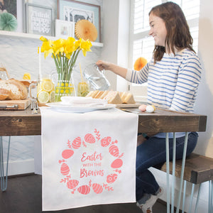 Personalised 'Easter With The…' Table Runner