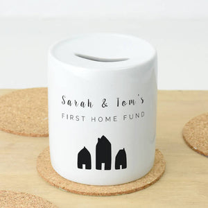 Personalised First Home Money Box