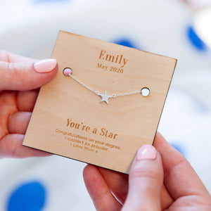 Personalised Graduation 'You're A Star' Necklace