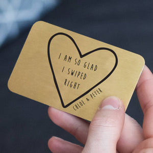 Personalised 'I Swiped Right' Online Dating Wallet Card