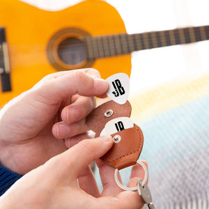 Personalised Initials Guitar Plectrum / Pick Keyring