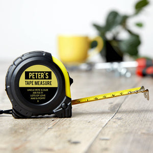 Personalised Message And Name Tape Measure
