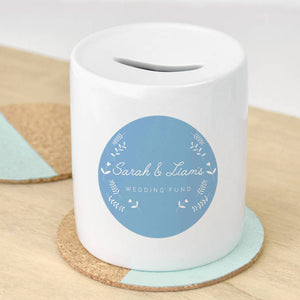 Couples Personalised Wedding Money Box