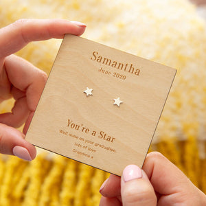 'You're A Star' Personalised Stud Earrings