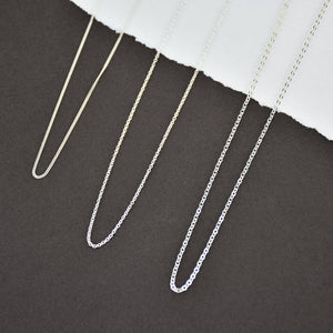 Silver Plated And Sterling Silver Necklace Chains