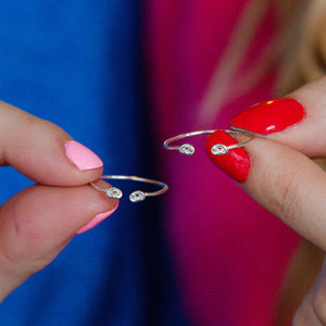 Sterling Silver Love Friendship Knot Ring Set