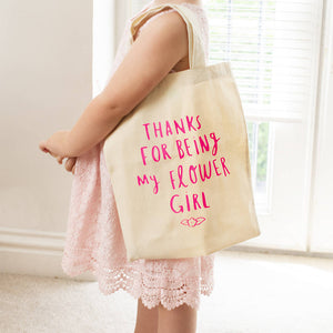 Thank You For Being My Flower Girl Mini Tote Bag