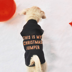 'This Is My Christmas Jumper' Pet Vest