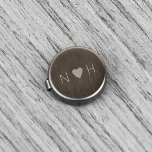 Wedding Initials And Heart Button Covers