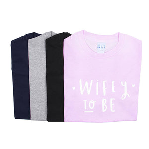 Wifey And Hubby To Be Engagement T Shirt Set