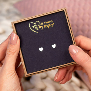 'You Will Forever Be My Always' Heart Stud Earrings