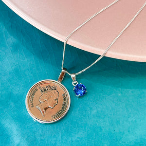16th Birthday 2005 Penny Coin Pendant Necklace