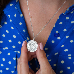 Sixpence 1930 90th Birthday Coin Pendant