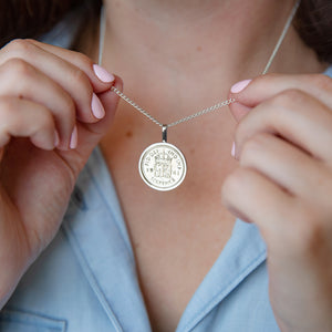 Sixpence 80th Birthday 1941 Coin Necklace
