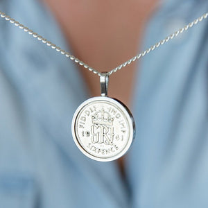 Sixpence 80th Birthday 1940 Coin Necklace
