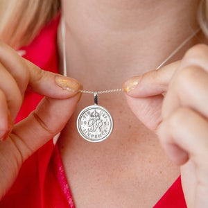 Sixpence 70th Birthday 1950 Coin Necklace