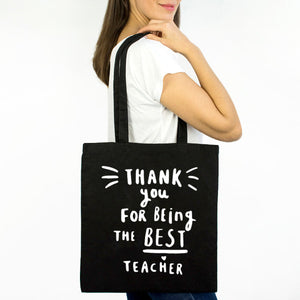 Thanks For Being The Best Teacher Tote Bag