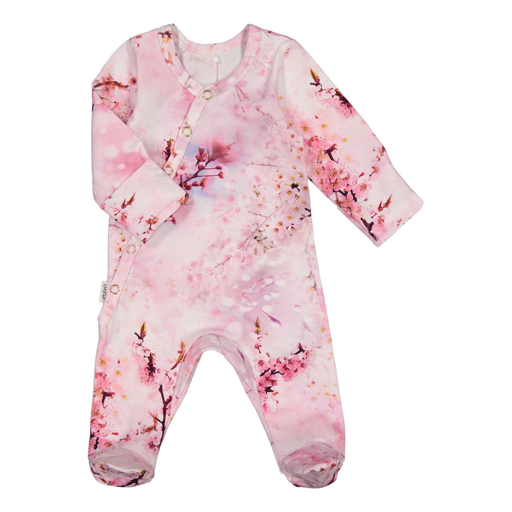 gugguu Baby Print Bodysuit Jumpsuits Cherry Blossom 50