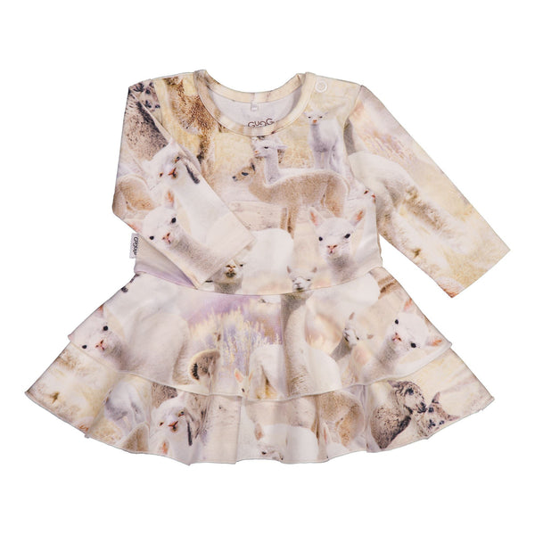 gugguu Baby Print Frilla Dress Dresses Alpaca 50