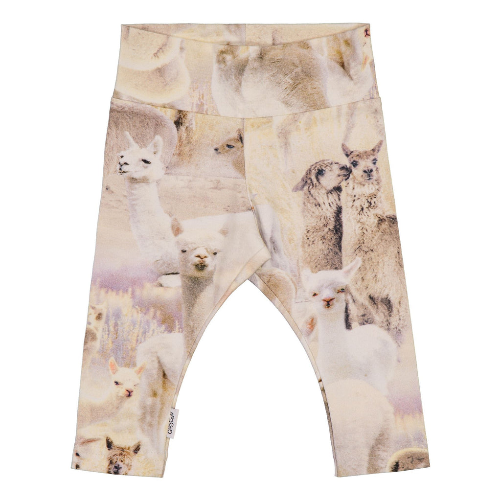 gugguu Baby Print Leggings Leggings Alpaca 50
