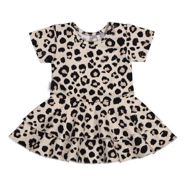 gugguu Baby Print SS Frilla Dress Dresses Ginger Leopard 50