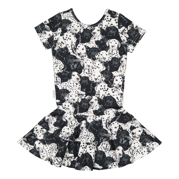 gugguu Frilla T-shirt Dress Dresses Puppies 74/7-9M