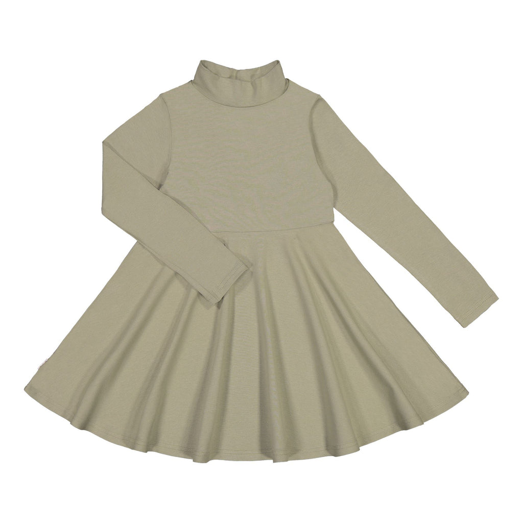 gugguu Half Turtleneck Dress Dresses Pale Sage 80