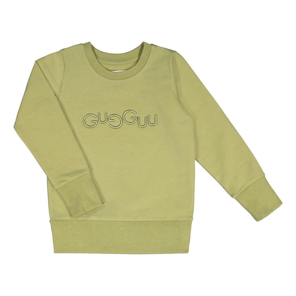 gugguu Logo Sweatshirt Hoodies and sweatshirts Sage Green 80