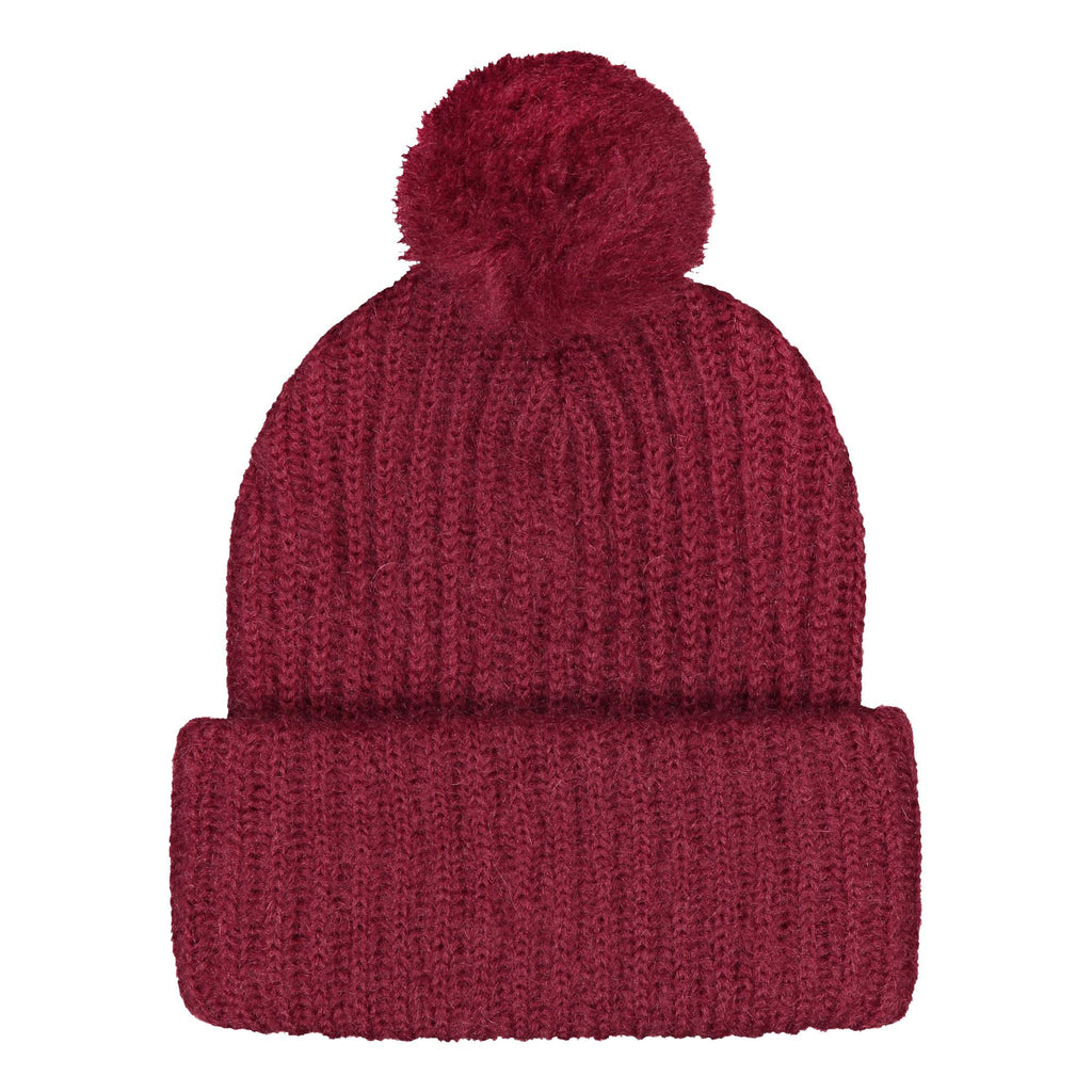 gugguu Mohair beanie with a tuft Mohair Wine red XS