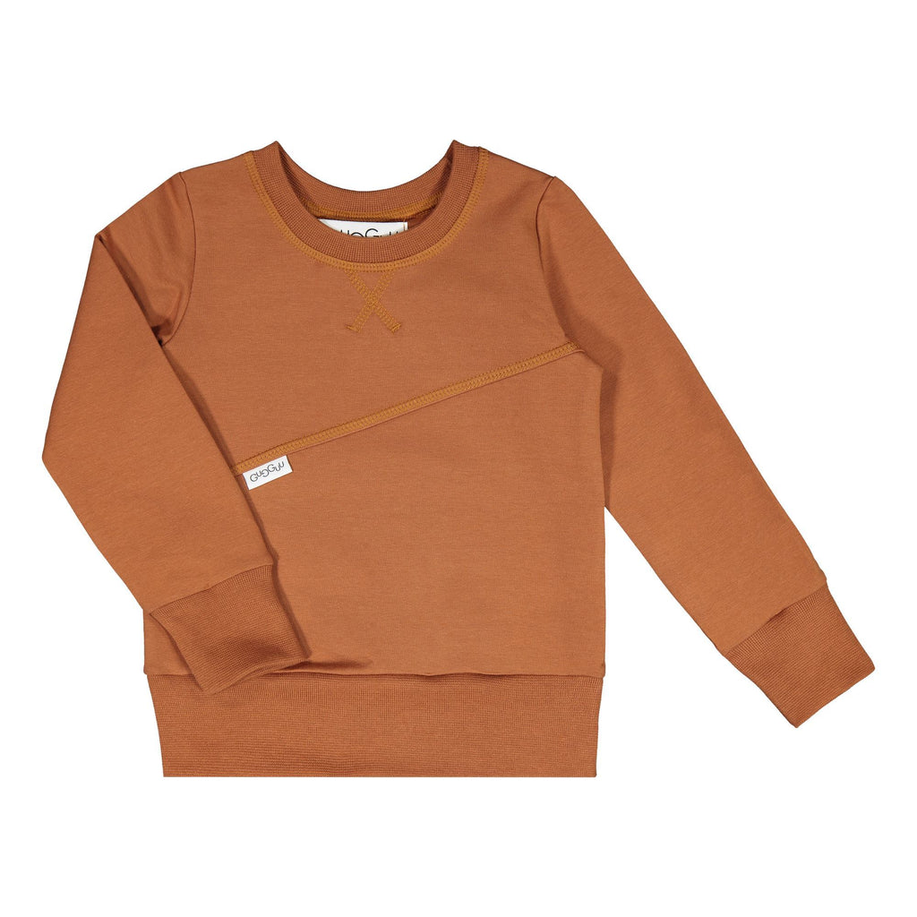 gugguu Mono Sweatshirt Hoodies and sweatshirts Brown Sugar 80