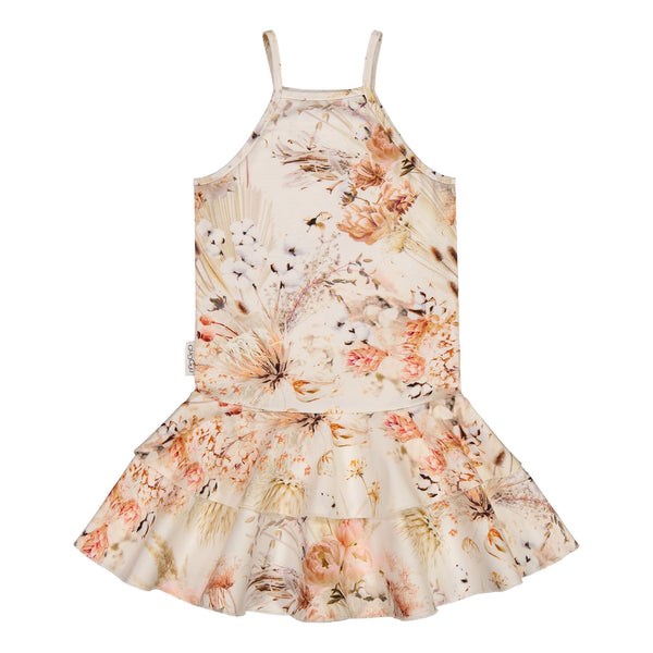 gugguu Print Spaget Dress Dresses Natural Flower 80