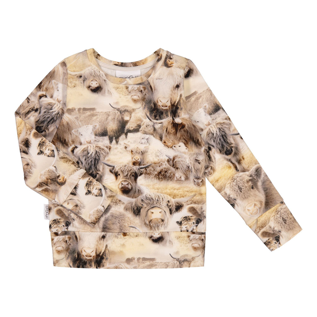 gugguu Print Sweatshirt Hoodies and sweatshirts Highland Cattle 80