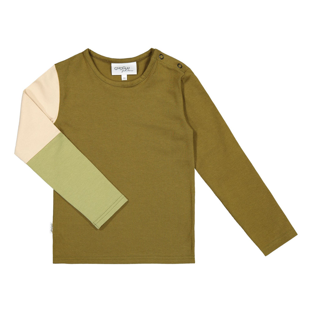 gugguu Triple Shirt Shirts Olive Green/ Vanilla Coffee/ Sage Green 80