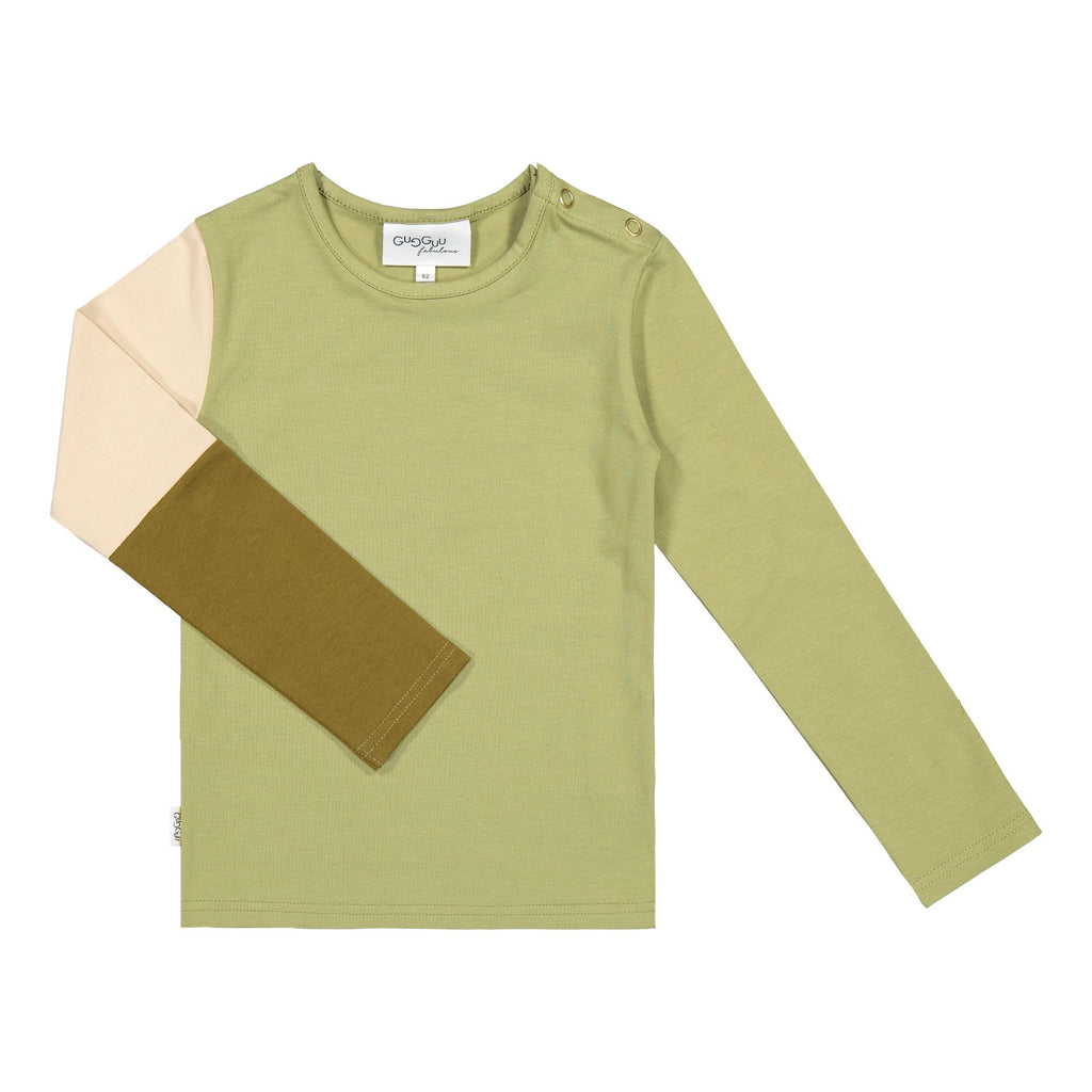 gugguu Triple Shirt Shirts Sage Green/ Vanilla Coffee/ Olive Green 80