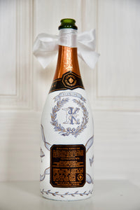 Custom Hand-Painted Champagne Bottle - Bachelorette, Bridal, Wedding, Anniversary Gift