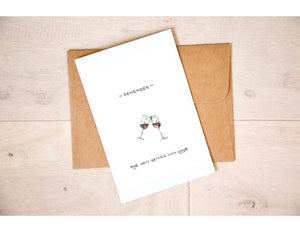 Age Gets Better Than Wine - Red Wine Birthday Card