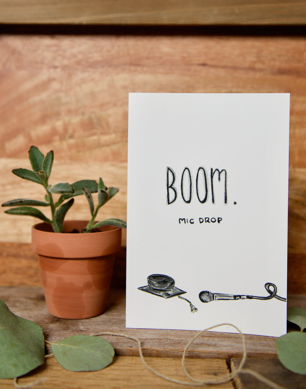 Boom. Mic drop. - 2020 funny graduation card